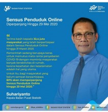 Sensus Penduduk Online Diperpanjang Sampai Mei 2020