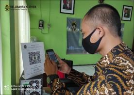 Kelurahan Klitren Sudah Menerapkan Wajib Scan QR Code Untuk Pengunjung di Kelurahan
